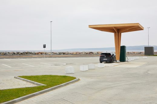 ZAZA TIMBER Construction Building EV charging station out of glulam in Denmark Photo Clever Denmark