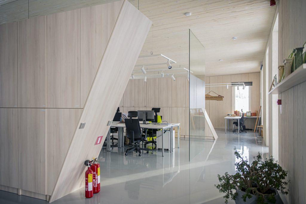 A glulam concep building ZAZA TIMBER office