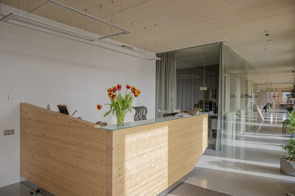A mass timber concep building ZAZA TIMBER office